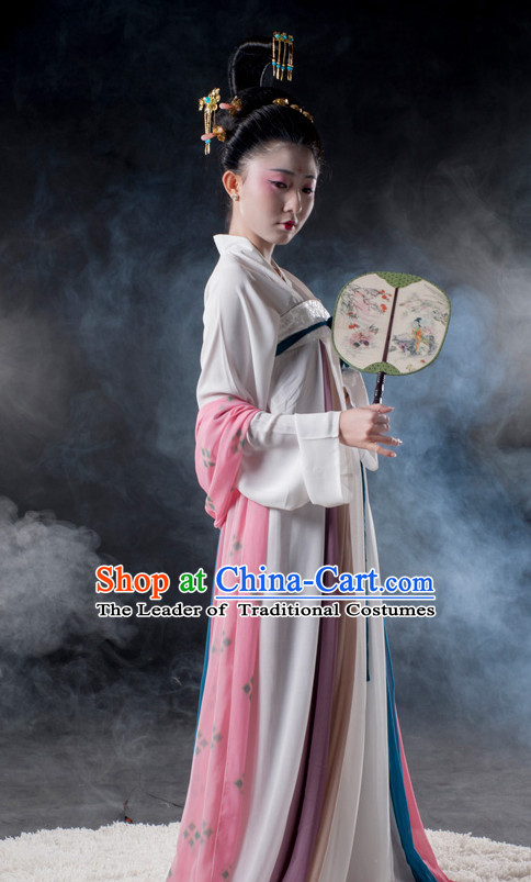 Chinese Ancient Dynasty Lady Clothes Costume China online Shopping Traditional Costumes Dress Wholesale Asian Culture Fashion Clothing and Hair Accessories for Women