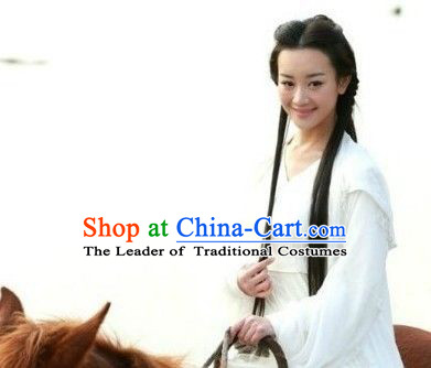 Black Ancient Fairy Style Wigs Lace Front Wig Hair Extension Women Hairpieces Full Wigs Sale