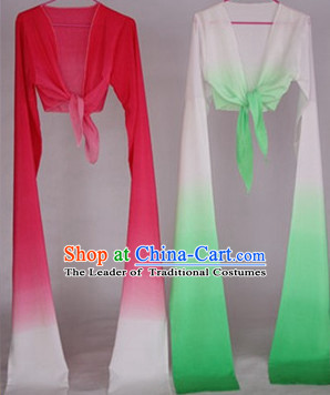 Color Transition Chinese Classical Water Sleeve Dance Props