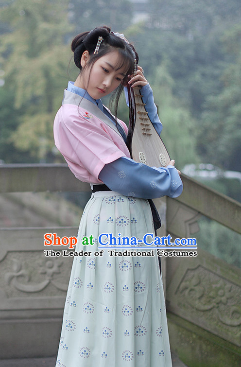 Chinese Costume Ancient Asian Clothing Han Dynasty Clothes Garment Outfits Suits for Women