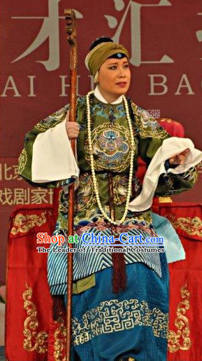 Chinese Opera Costumes Beijing Opera Costume Peking Stage Empress Dress Dragon Robe Complete Set
