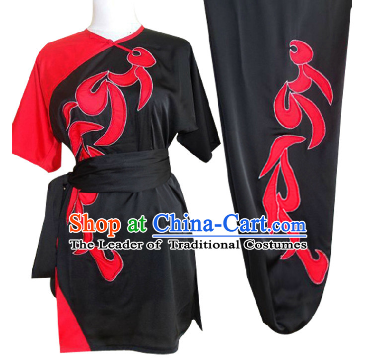Top Short Sleeves Embroidered Wing Chun Uniform Martial Arts Supplies Supply Karate Gear Tai Chi Uniforms Clothing for Women and Girls