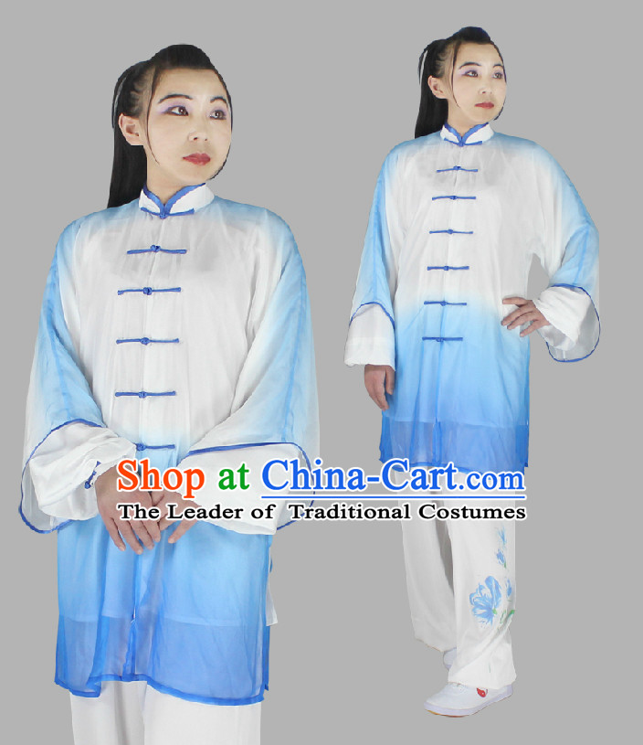 Top Long Sleeves Embroidered Wing Chun Uniform Martial Arts Supplies Supply Karate Gear Tai Chi Uniforms Clothing and Veil for Women or Men