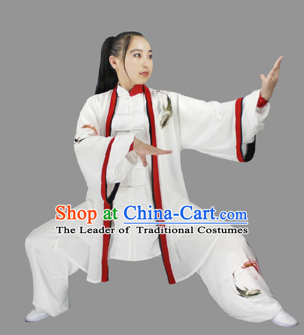 Top Long Sleeves Tai Chi Wing Chun Uniform Martial Arts Supplies Supply Karate Gear Martial Arts Uniforms Clothing and Veil for Women or Girls