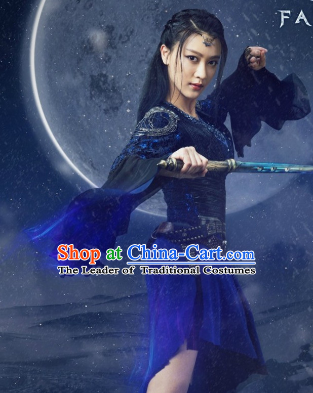 Chinese Style Swordswoman Knight Cosplay Costumes