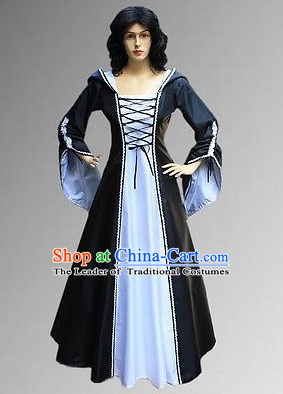 Traditional British National Costume Medieval Costume Renaissance Costumes Historic Clothes Complete Set for Women