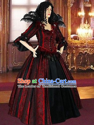 Traditional British National Costume Medieval Costume Renaissance Costumes Historic Queen Clothes Complete Set