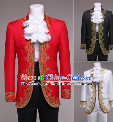 Traditional European Palace General Uniform British National Costumes Complete Set for Men and Boys