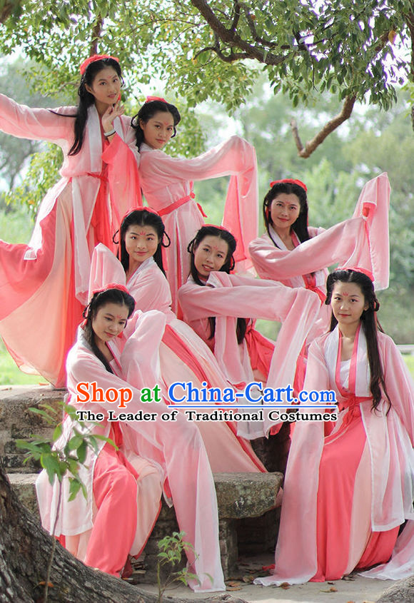 Long Sleeve Asian Classic Dance Costumes for Women