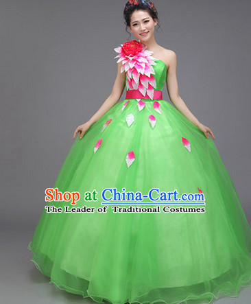 Asian Chinese Evening Dress Festival Performance Costume Fan Dancing Costumes Uniform Outfits Stage Opening Parade Competition Dancewear Complete Set