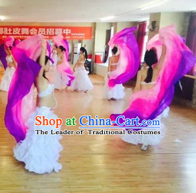 2.5 Meters Long Color Change Belly Dance Scarves of Silk