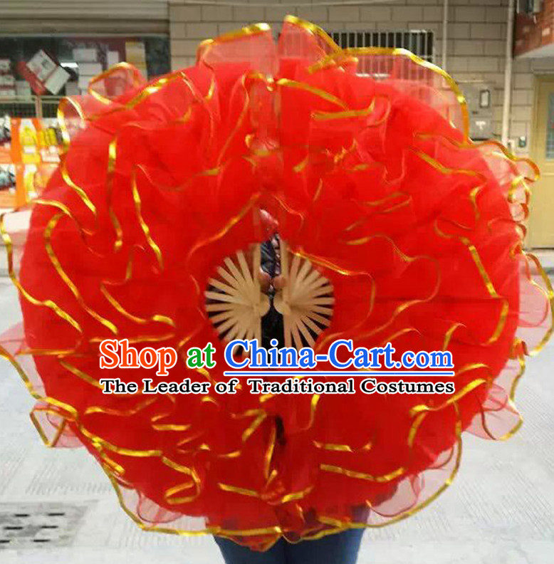 Chinese Korean Dancing Fan Dance Gauze Fans Belly Dance Hand Fans Hand Fan Japanese Wedding Fans Oriental Fan