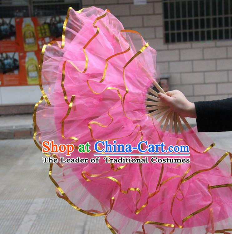 Light Pink Chinese Korean Dancing Fan Dance Gauze Fans Belly Dance Hand Fans Hand Fan Japanese Wedding Fans Oriental Fan