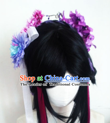 Ancient Chinese Fairy Wigs Toupee Wigs Human Hair Wig Hair Extensions Sisters Weave Cosplay Wigs Lace Hair Accessories for Women