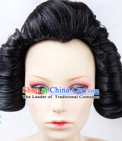 Ancient Asian Korean Japanese Chinese Style Female Wigs Toupee Wig  Hair Wig Hair Extensions Sisters Weave Cosplay Wigs Lace for Women