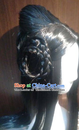 Ancient Chinese Beauty Wigs Toupee Wigs Human Hair Wigs Hair Extensions Sisters Weave Cosplay Wigs Lace Hair Pieces and Accessories for Women