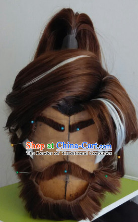 Ancient Chinese Style Full Wigs Hair Extensions Toupee Lace Front Wigs Remy Hair Sisters for Kids Men Hair Pieces Weave Hair Wig