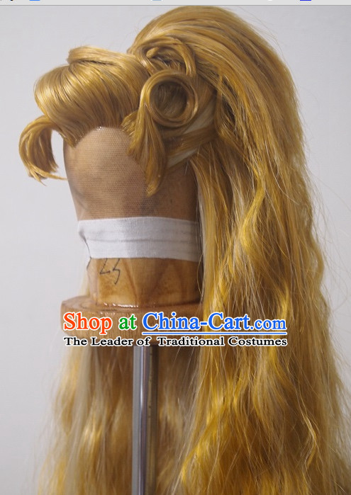 Ancient Chinese Style Full Wigs Hair Extensions Toupee Lace Front Wigs Remy  Hair Sisters for Kids Men Women ... f2520736fe