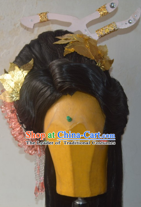 Ancient Chinese Empress Queen Princess Long Wigs Wigs Afro Wigs Hair Extensions Cheap Chinese Wigs Toupee Women Men Way Hair Full Lace Brazilian Front Wig Weave online