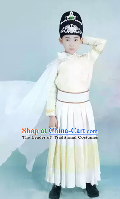 Ancient Chinese Ming Dynasty Dress and Hat Complete Set for Kids