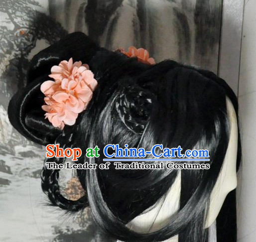 Chinese Long Wig Hair Extensions Wigs Toupee Full Lace Front Wigs Weave Pieces Real