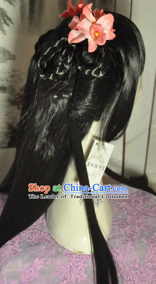 Chinese Princess Long Wig Hair Extensions Real Wigs Toupee Full Lace Front Wigs Weave Pieces for Women