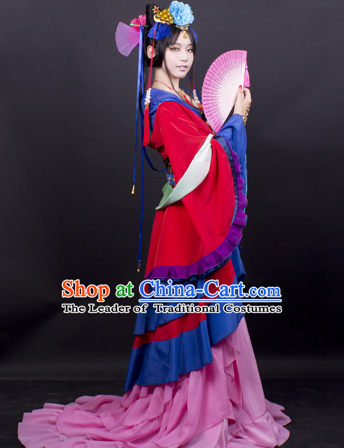 Chinese Classical Fairy Costume Garment Dress Costumes Dress Adults Cosplay Japanese Korean Asian King Clothing for Women