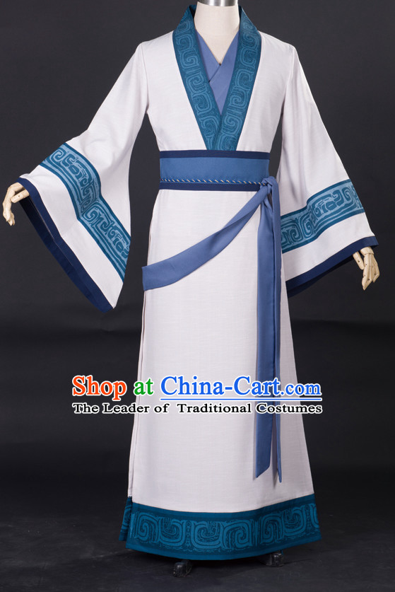 Chinese Ancient Swordman Costume Garment Dress Costumes Dress Adults Cosplay Japanese Korean Asian King Clothing for Men