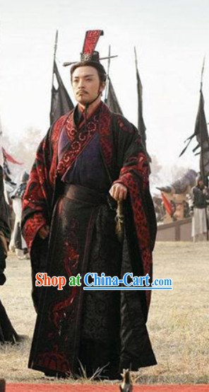 Qin Dynasty Qin Chao Chinese Costume Qin Shi Huang Film Costumes for Men