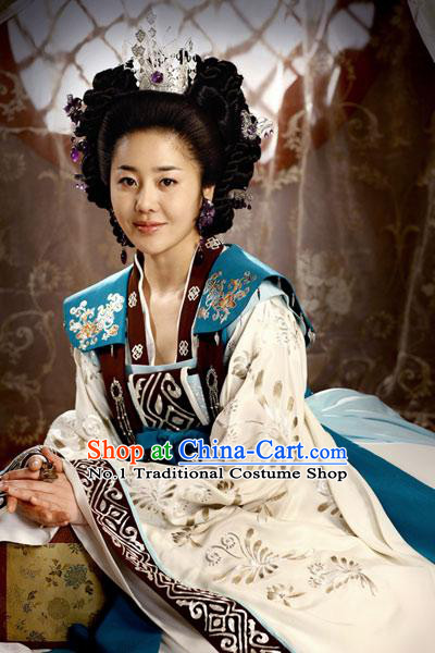 Traditional Korean Princess Clothing Costumes  and Hair Accessories Complete Set