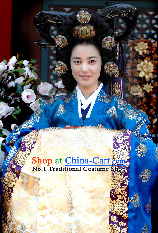Korean National Princess Clothing Wig and Hair Jewelry Complete Set