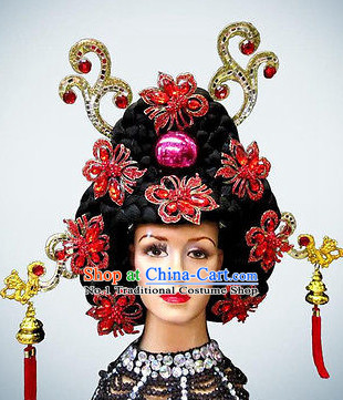 Korean Queen Black Wig and Hair Ornaments