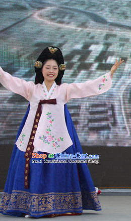 Korean Traditional Folk Dance Costumes for Women