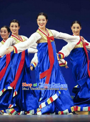Korean Traditional Group Dance Costumes for Girls
