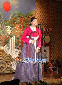 Korean Traditional Hanbok Singer Costumes for Women