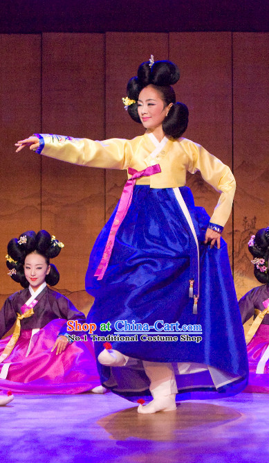 Korean Traditional Hanbok Stage Dance Costumes for Women