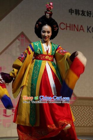 Korean Traditional Hanbok Dance Costumes for Women
