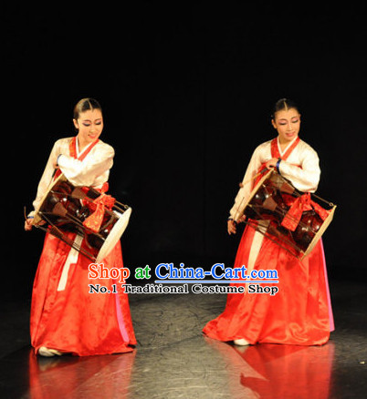 Korean Traditional Hanbok Drum Costume for Women