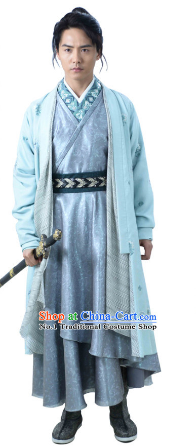 Chinese Knight TV Play Costumes and Coronet