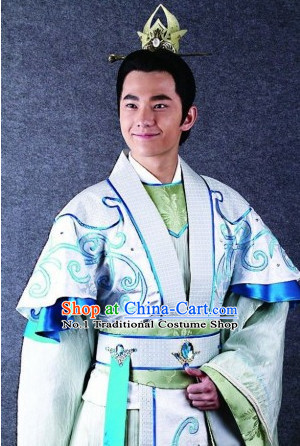 Chinese Lengend of the Ancient Sword Prince TV Play Costumes and Coronet