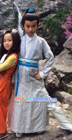 Chinese Lengend of the Ancient Sword Superhero Knight TV Play Costumes for Kids
