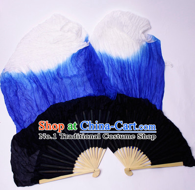 59 Inches Long Chinese Silk Dancing Fan