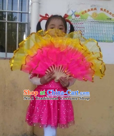 Chinese Professional Stage Performance Hand Fans for Kids
