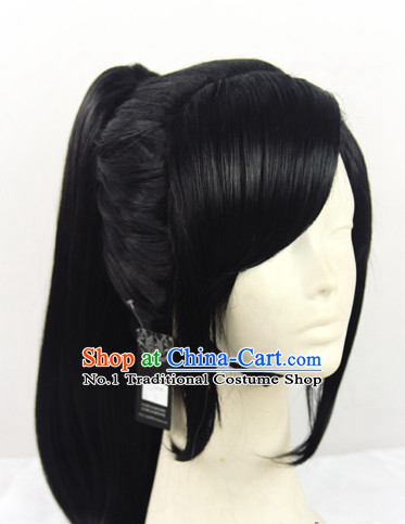 Traditional Chinese Swordsman Hair Wigs