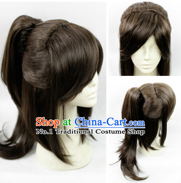 Chinese Black Hair Weave for Swordsmen