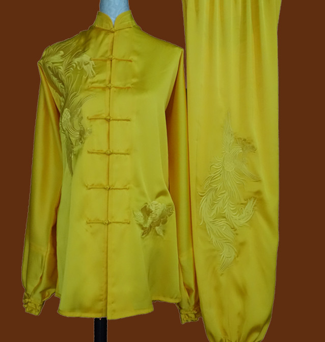 Top China Color Gold Taiji Suit