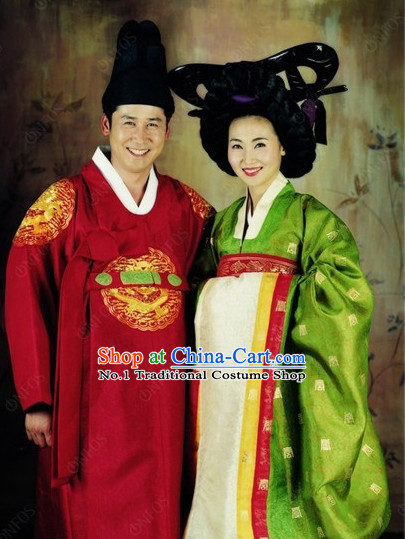 Korean Traditional Dresses for Husband and Wife