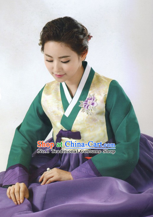 Korean Traditional  Hanbok Clothing Complete Set for Women