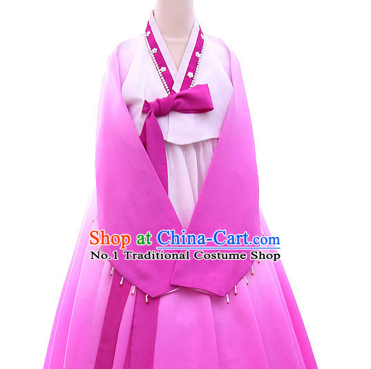 Korean Traditional  Hanbok Dancing Costumes