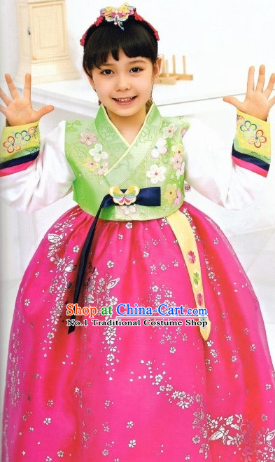 Asia Fashion Korean Costumes Apparel Outfits Clothes Dresses online for Kids